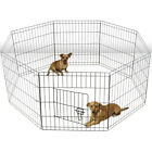 OxGord Tall Wire Fence Pet Dog Cat Folding Exercise Yard 8 Panel Metal Play-Pen