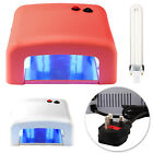 36W White/Pink UV Gel Curing Lamp Light Nail Dryer + 4 X 9W Bulbs