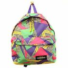 EASTPAK BAG PADDED PAK'R UNISEX 80'S FUN PURPLE PINK GREEN BACKPACK