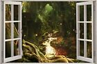 3D Window View Children Fairytale Enchanted Forest Wall Sticker Decal Mural