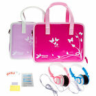 Girls Travel Vinyl PU Handbag with Headphones & 6 Screen Protector for LeapPad 3
