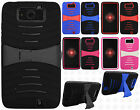 Verizon Motorola Droid Maxx XT1080M HYBRID Hard Rubber KICKSTAND + Screen Guard
