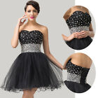 BIG Promotion~ Women's Beaded Shiny Strapless Short Cocktail Party Bubble Dress