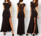 Ladies Lace Long Bodycon Evening Cocktail Fashion Dress Cut Out FAULTY FTY -32