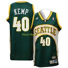 SHAWN KEMP Seattle SUPERSONICS Sonics Road HWC Throwback SWINGMAN Jersey S-XXL