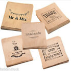 Luck And Luck Kraft Brown Paper Bags All Designs x 90 Wedding / Craft / Favours