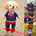 Superman Pet Cat Dog Puppy Cotton Clothes Costume Christmas Gift Fancy Dress