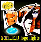 Pair of LED 5th gen Car door Step laser Projector light For Multi-logo Mix Order