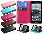 LG Optimus F6 D500 MS500 Premium Wallet Pouch Flap STAND Cover + Screen Guard