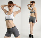New Silm Womens Padded Bra Top Athletic Vest Gym Yoga Apparel Dance UK DS
