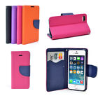 Magnetic Snap Card Wallet Stand Up Case Cover for iPhone 4S 5 5S Samsung S4 S5