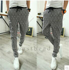 New Designer Plaid Men's Casual Sports Dance Trousers Baggy Jogging Harem Pants