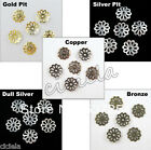Wholesale 100/200/500Pcs Flower End Bead Caps Charms Jewelry Making Craft 7mm