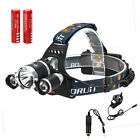 9000LM 3*CREE T6 LED Front Head light Headlamp Headlight 18650 battery charger