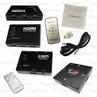 3 5 PORT HDMI Switch Switcher Selector Splitter Hub IR Remote 1080p FOR HDTV PS3