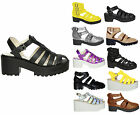 Womens Fisherman Shoes Ladies Cleated Sole Multi Strap Buckle Sandals Sizes 3-8
