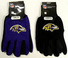 NWT NFL Baltimore Ravens No Slip Gripper Utility Work Glove W/ 3D Logo Adult Men on eBay