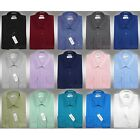 Modern Slim Fit Modena Dress Shirt w/ Barrel Cuffs Cotton Blend Many Colors