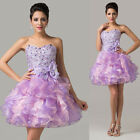 Sexy TUTU Sequins Cocktail Dance Prom Gown Wedding Bridesmaid Dresses Homecoming