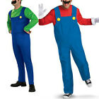 WOO Super Brothers Fancy Dress Plumber Game Costume Mens Boys Outfit Adult Suit