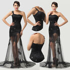 New Lace Tulle Formal Evening Cocktail Prom Gown Party Wedding Bridal Long Dress