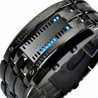 Luxury Men Women Black Stainless Steel Date Digital LED Bracelet Sport Watch