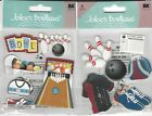 U CHOOSE  Jolee's  BOWLING ALLEY      BOWLING    3D Stickers sports