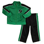 Baby Togs Toddler Boys 2 Piece Green Black Tricot Jacket Pants Track Set
