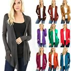 S M L XL CARDIGAN Semi Sheer Long Sleeve Open Front Draped Light Cover-up RT1747
