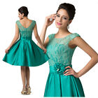 100% NEW Short Homecoming Dress Vintage lace Satin Rose Cocktail Party Dresses