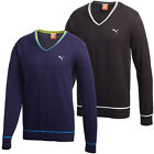 Puma Golf AW13 Mens Solid Cotton V-Neck Golf Sweater Pullover Jumper Top