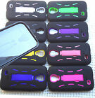 Samsung Galaxy S4 Phone Cover Case PRO ARMOR BLACK w / BUILT IN SCREEN PROTECTOR
