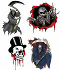 """Gothic Skull Grim Reaper 5"""" Vehicle Laptop Wall Graphic Vinyl Car Sticker Decal"""