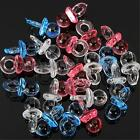 100Pcs Clear Baby Shower Favors Mini Pacifiers Girl Boy Party Game Decorations
