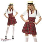FANCY DRESS COSTUME # LADIES TARTAN SCHOOLGIRL UNIFORM SCHOOL OUTFIT SIZE 8-18