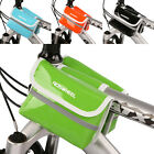 ❤SUPER CHEAP❤Bike Bicycle PU Leather Double Pannier Frame Front Tube Bag 5 COLOR