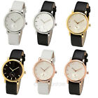 Simple Style PU Leather Band Strap Watches Quartz Wrist Watch Wristband