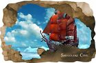 Huge 3D Smugglers Cove Pirate Cave View Wall Stickers Mural Wallpaper Decal Film