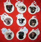 Ceramic Puppy Christmas Ornament dog lover breed pets GIFT collect New round