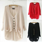 Trendy Korean Lady Girl Pop Batwing Hollow Knitted Sweater Cardigan Tops EWUK
