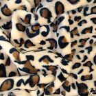 "PER METRE/ FAT QUARTER super soft cuddle fleece leopard pattern brown 64 "" wide"