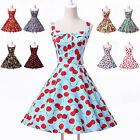 UK STOCK FAST SHIP~Vintage 1950s Floral Summer Party Housewife Evening Tea Dress