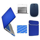 """Rubberized Hard Case For Macbook Air11"""" Pro 13 15"""" Retina with Mouse/Key/LCD/Bag"""