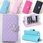 Luxury Wallet Card Holder PU Leather Phone Flip Case Cover for Iphone 4 4S 5 5s