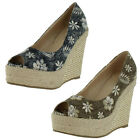 Nomad Ahoy Women's Espadrille Wedge Sandals Shoes Floral Hawaiian