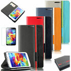 For Samsung Galaxy S5 SV i9600 Leather Stand Wallet Pouch Skin Case Cover