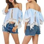 1PC Women Lace Crochet Embroidery Tops Long Sleeve Shirt Casual Blouse Reliable