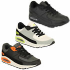 Mens Trainers Air Tech Shoes Jogging Running Lace Up Walking Sports Gym Bubble