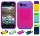 For Lg Optimus Fuel L34C NEST HYBRID HARD Case Rubber Phone Cover Accessory