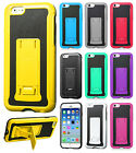 Apple iPhone 6 4.7 KICKSTAND HYBRID Leather Backing Phone Case Cover Accessory